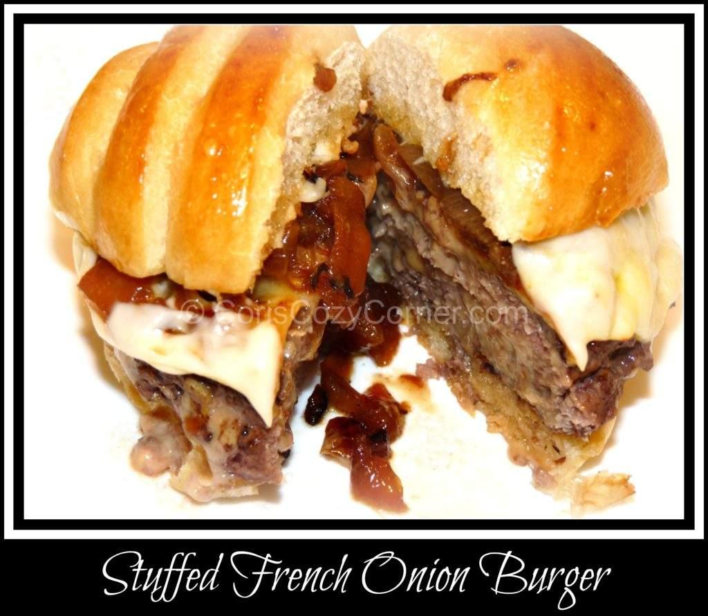 Stuffed French Onion Burger