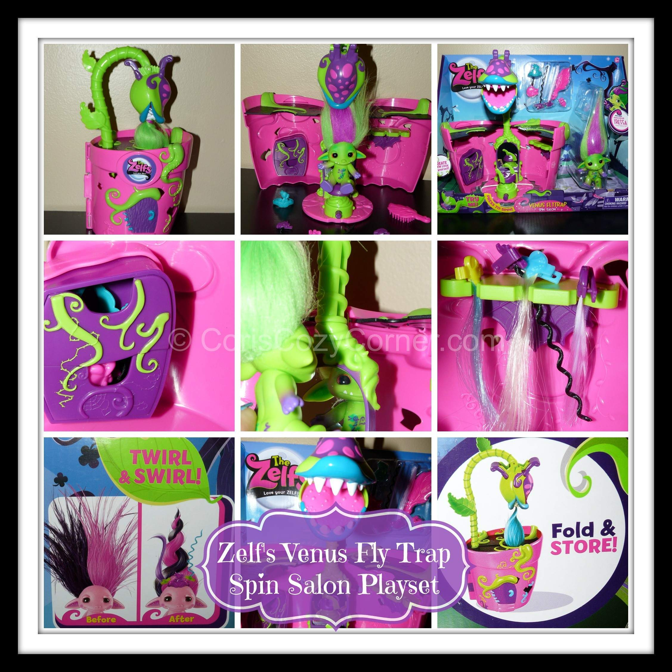 Coloring pages zelfs - Zelf Venus Fly Trap Spin Salon Playset