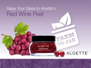 aloette red wine peel