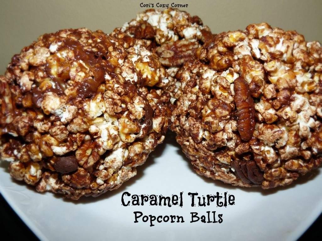caramel turtle popcorn balls