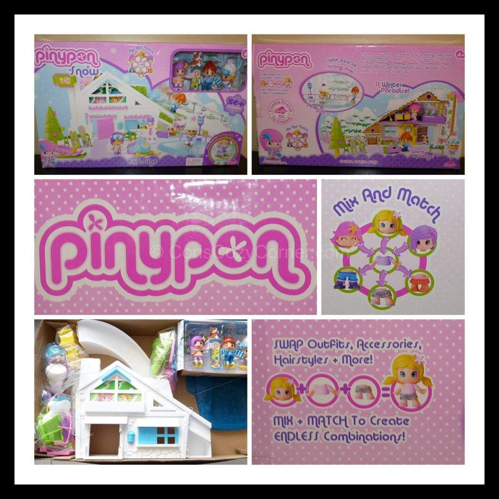 pinypon ski lodge box
