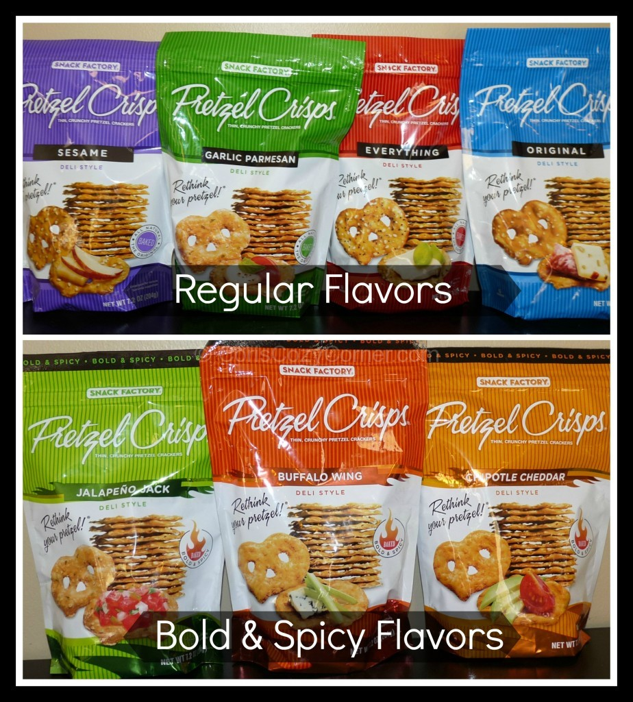 pretzel crisps regular and bold