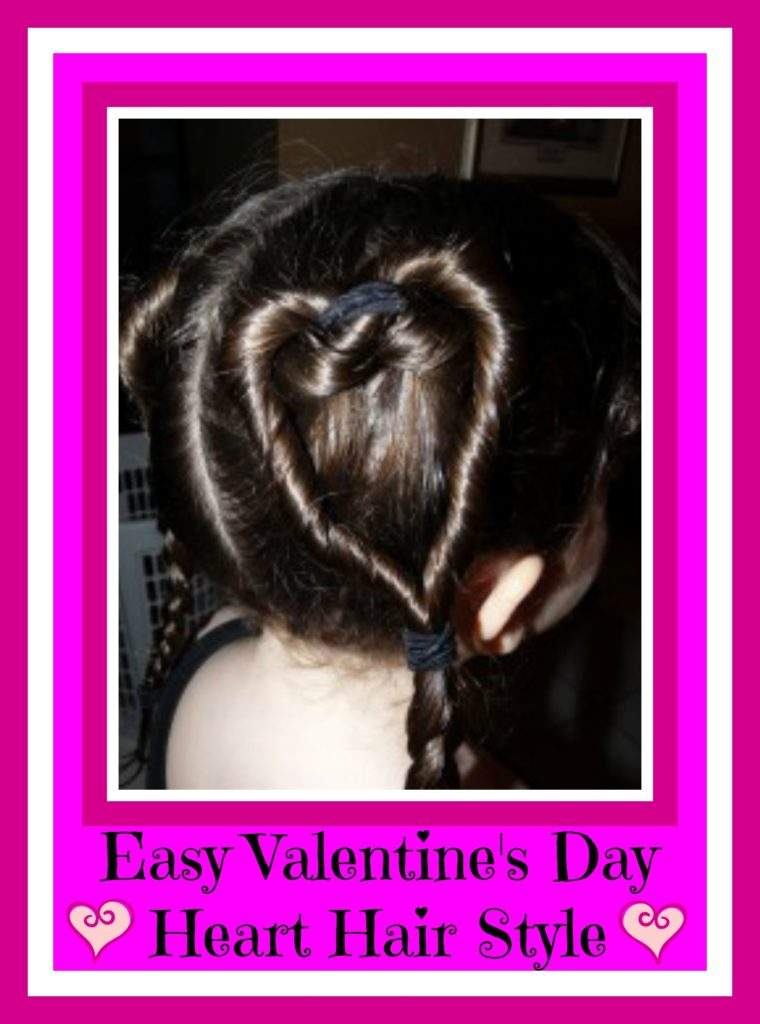 valentine's day heart hair