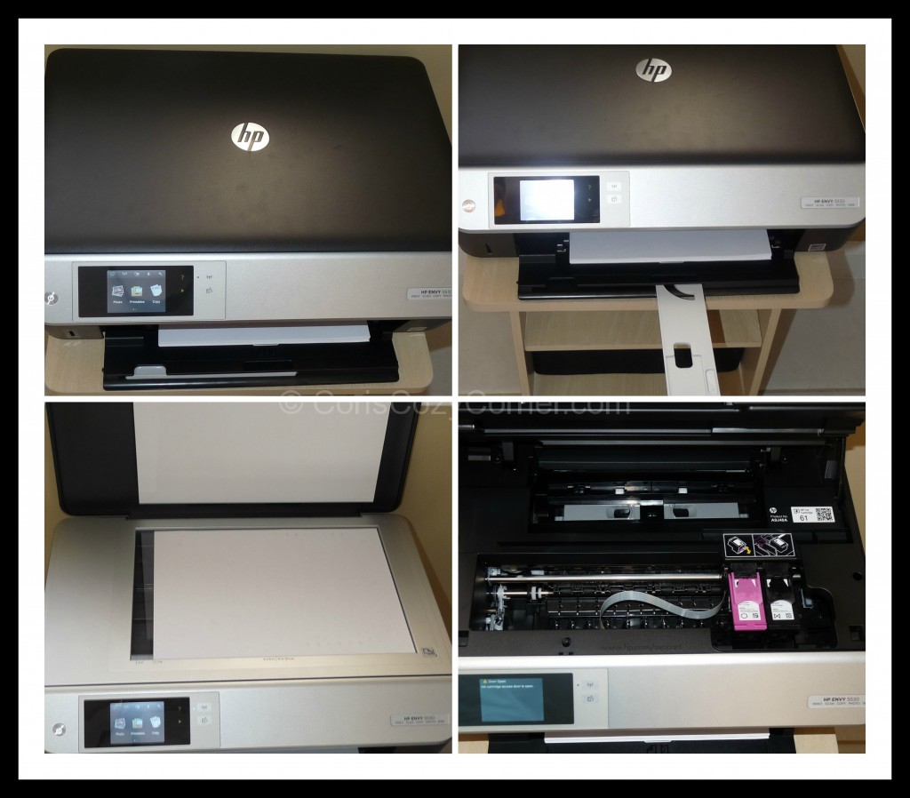 HP ENVY 5530 e-All-in-One Printer collage