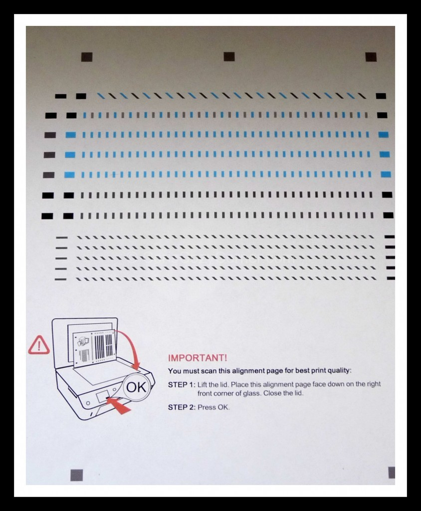 HP ENVY 5530 e-All-in-One Printer test page