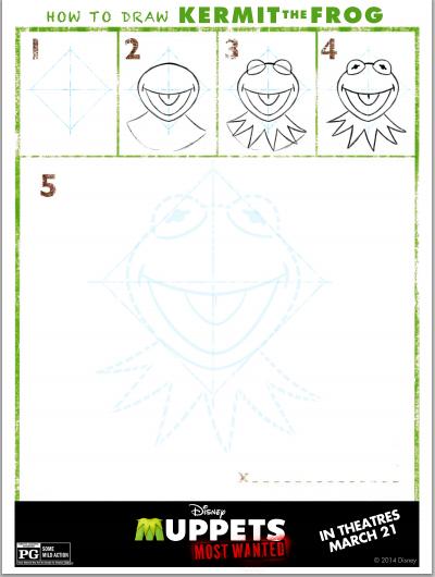 draw kermit