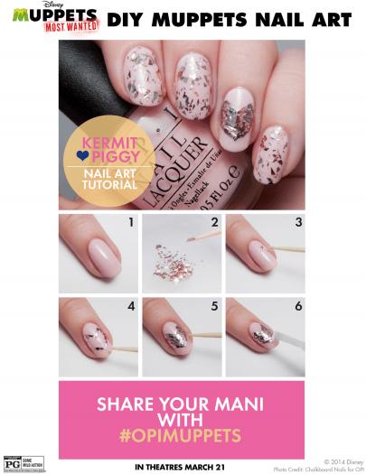 kermit piggy nail art