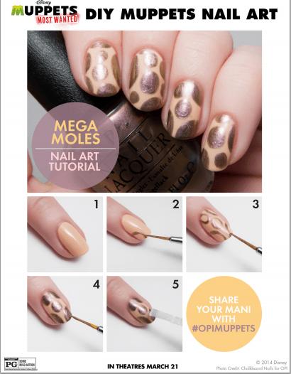 moles nail art