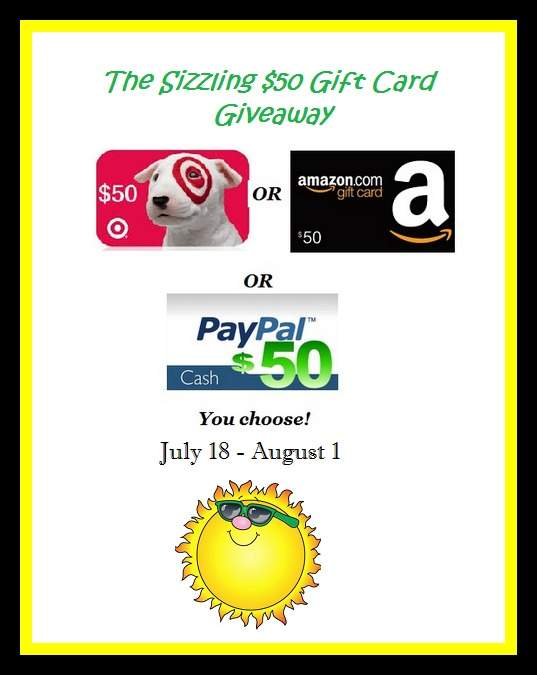 Sizzling $50 Gift Card Giveaway