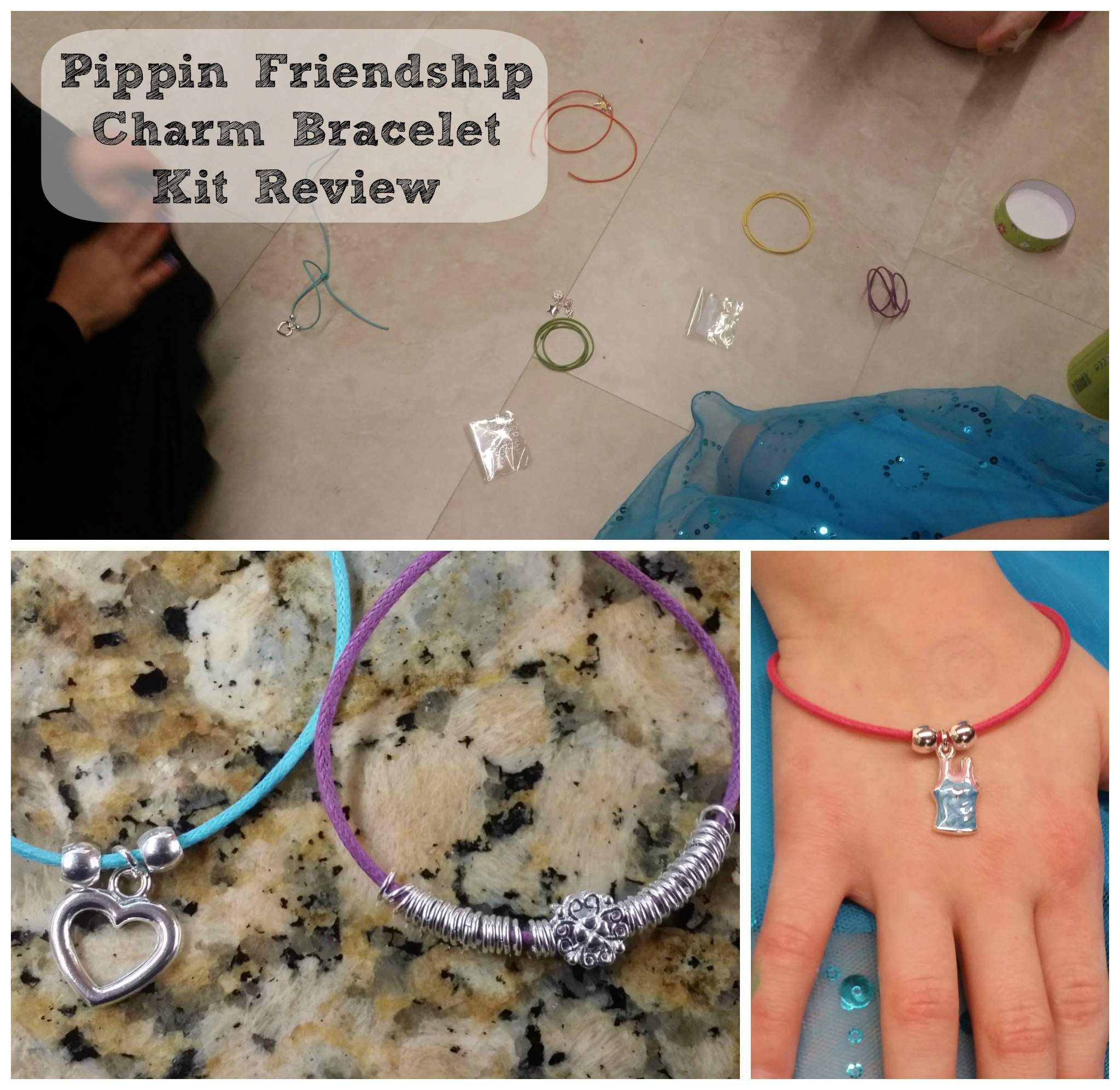 How to Make an Adjustable Knot Pippin Friendship Charm Bracelet