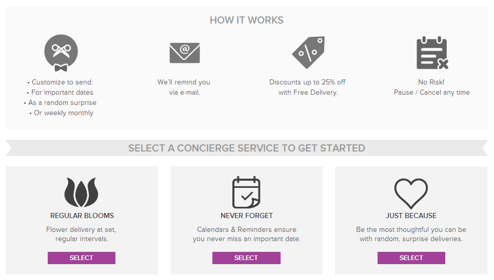 bouqs concierge service