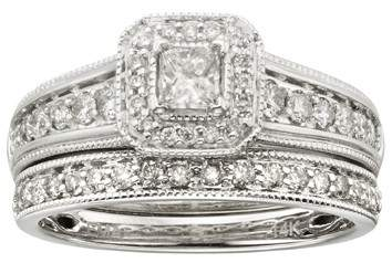 princess cut wedding ring set