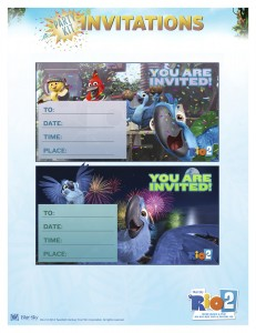 rio 2 party invitations