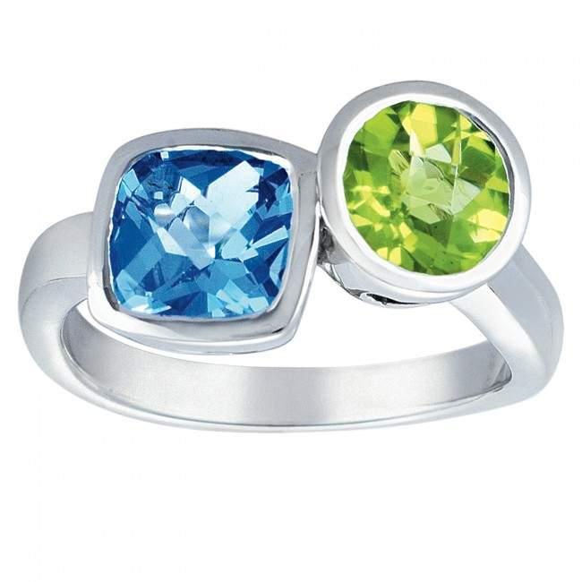 topaz and peridot ring
