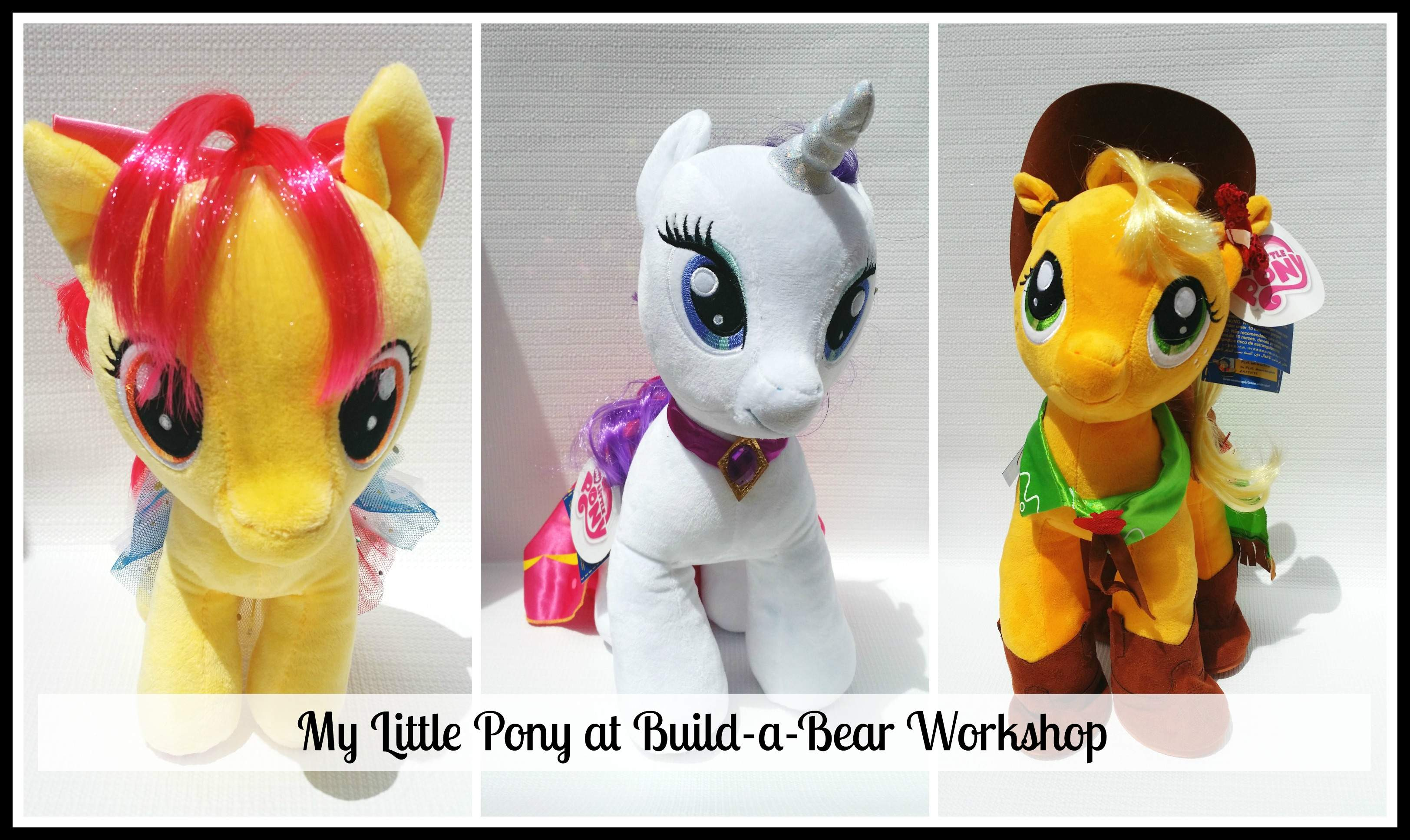 f97f617ded4 Build-a-Bear Workshop has added to its My Little Pony Collection with 4 new  ponies. Introducing…Applejack