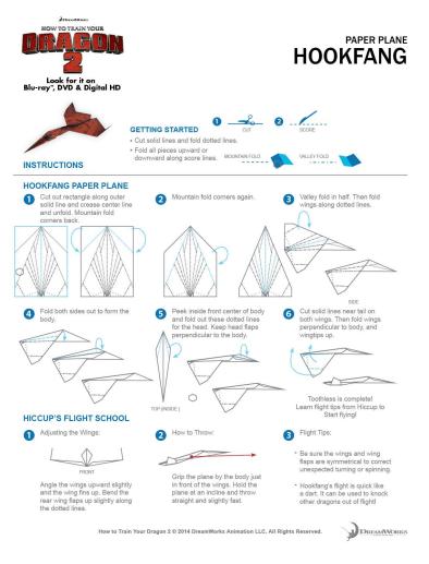 httyd hook fang paper plane