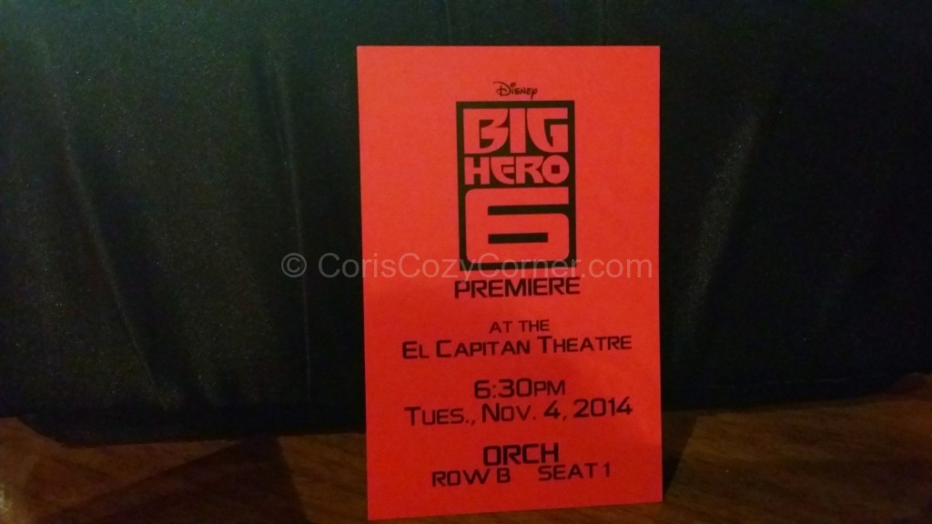 Big Hero 6 ticket