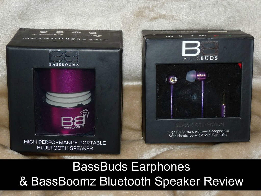 BassBuds Earphones and BassBoomz Bluetooth Speaker Review