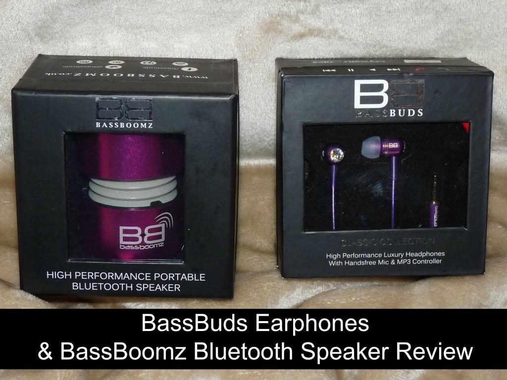 BassBuds Earphones and BassBoomz Bluetooth Speaker Review