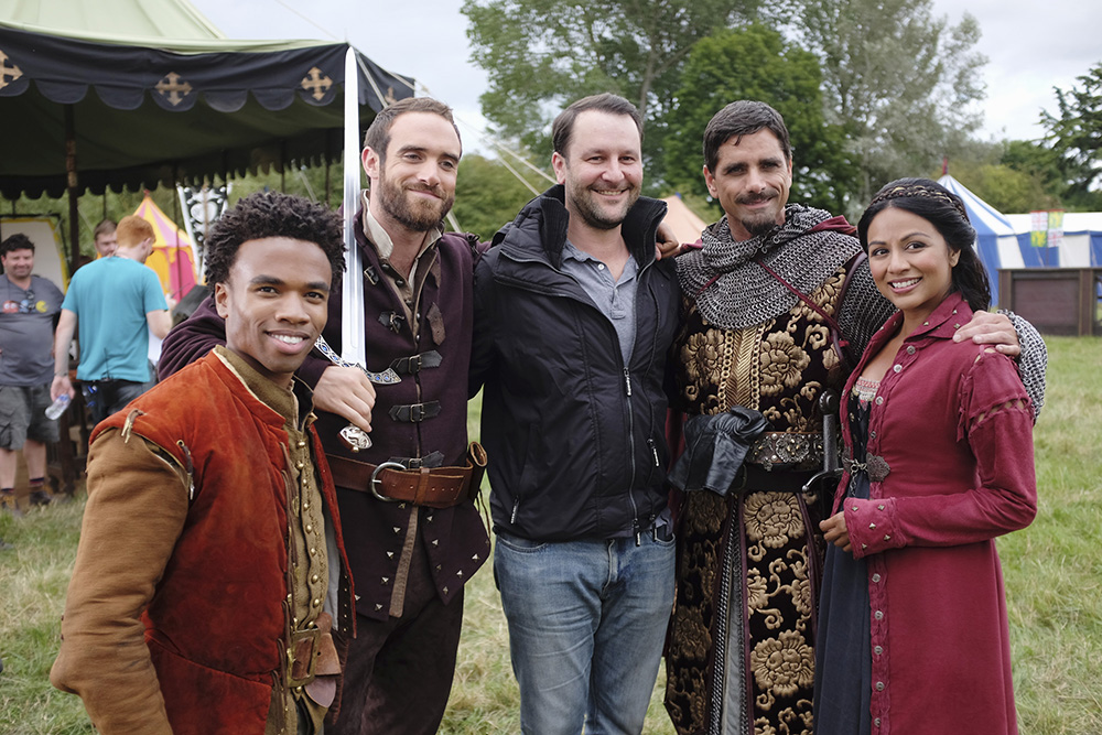 KAREN DAVID, JOSHUA SASSE, DAN FOGELMAN (EXECUTIVE PRODUCER), LUKE YOUNGBLOOD, JOHN STAMOS, KAREN DAVID