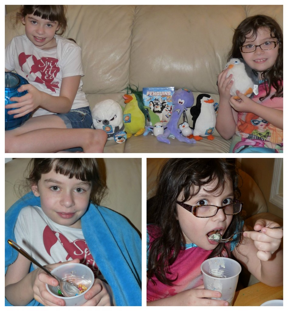penguins of Madagascar ice cream party