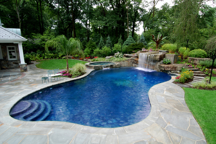 superb-backyard-swimming-pool-waterfall-design-and-installation-allendale-new-jersey