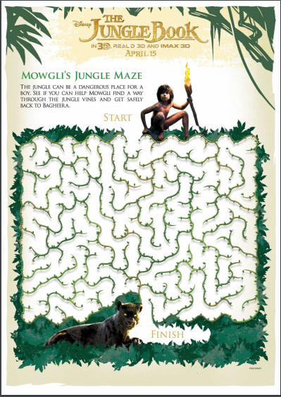 jungle book maze