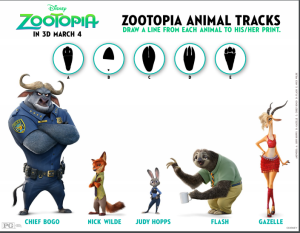 zootopia animal tracks game