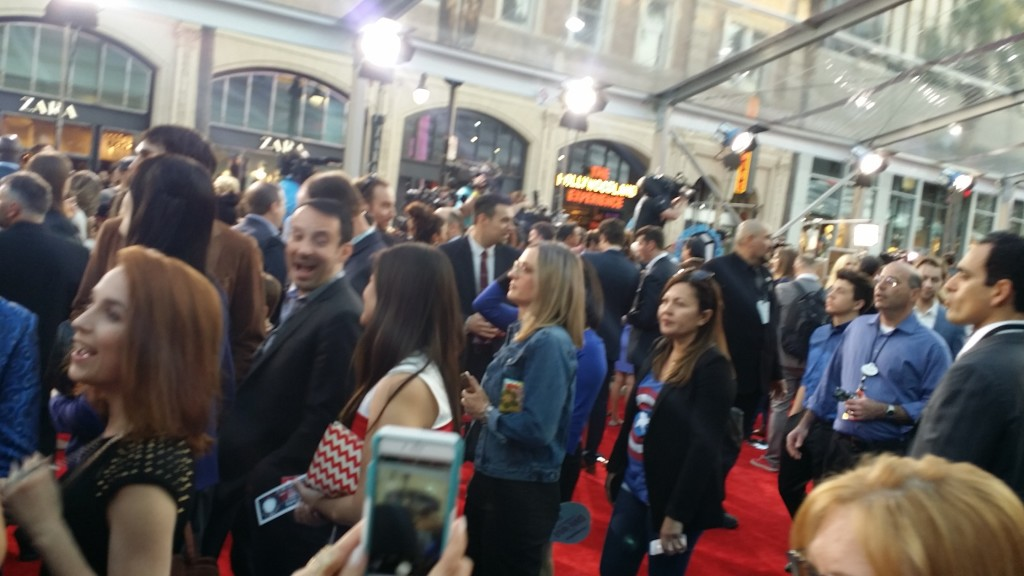 Captain America: Civil War Red Carpet Crowd