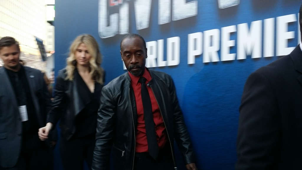 Don Cheadle Captain America: Civil War red carpet