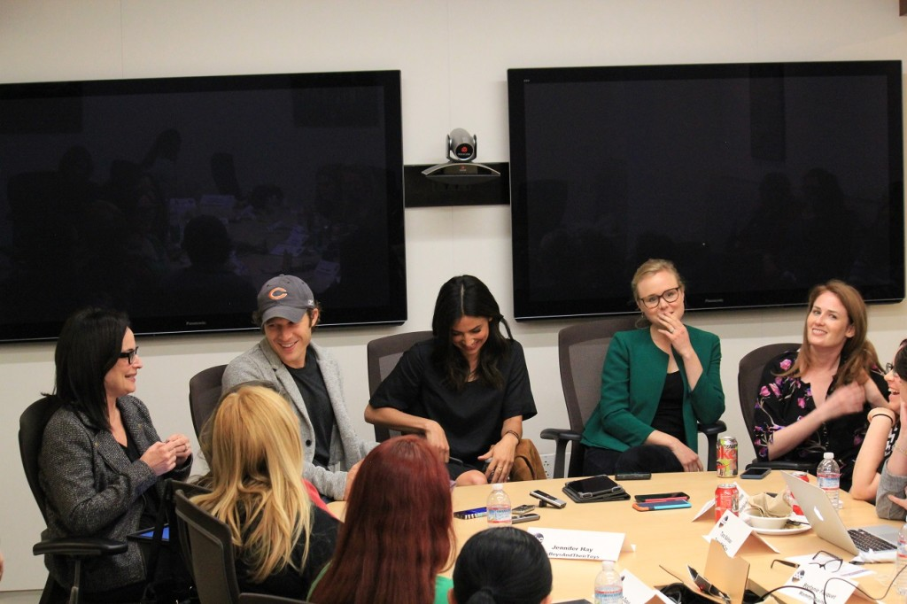 "The Family Executive Producer Laura Zaks, Zach Gilford (""Danny""), Floriana Lima (""Bridey""), Alison Pill (""Willa""), Executive Producer Jenna Bans  Photo Credit- Coralie Seright from Lovebugs and Postcards"