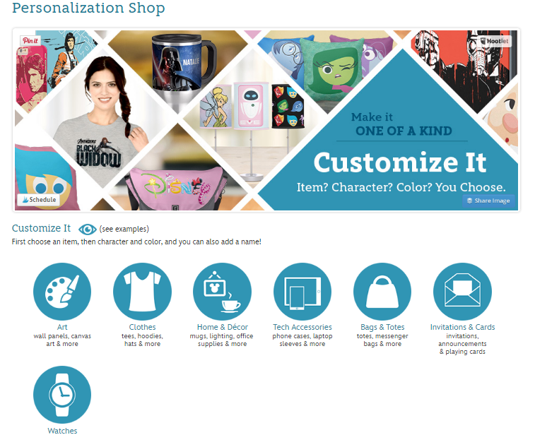 personalization shop