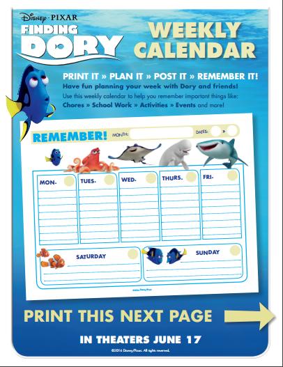 dory calendar