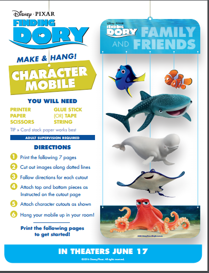 dory character mobile