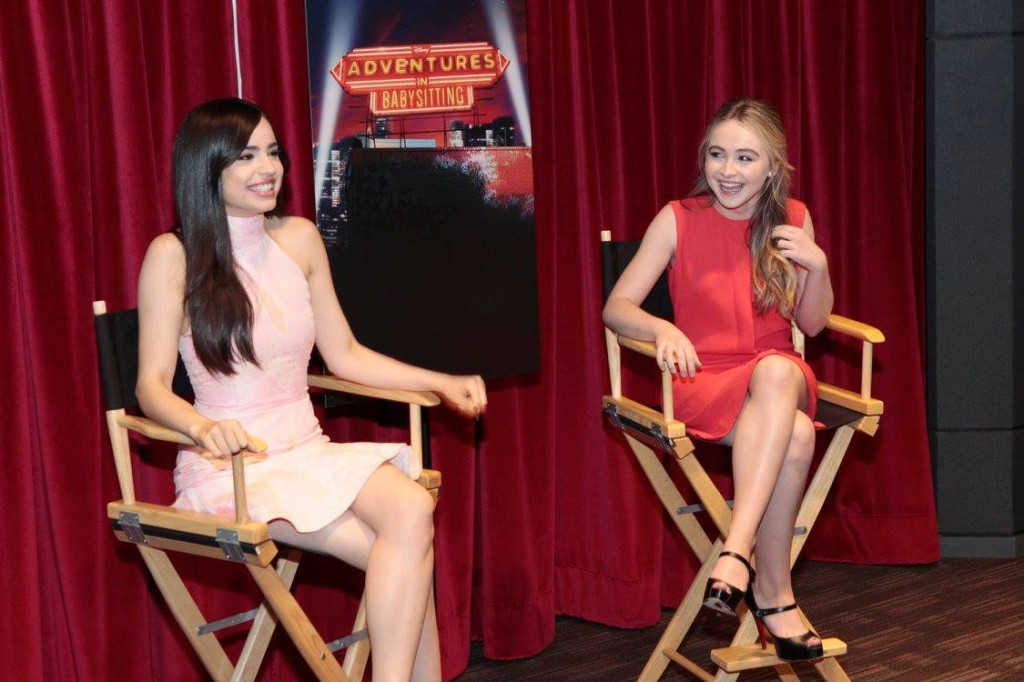 ADVENTURES IN BABYSITTING - Press Day. (Disney Channel/Rick Rowell)SOFIA CARSON, SABRINA CARPENTER