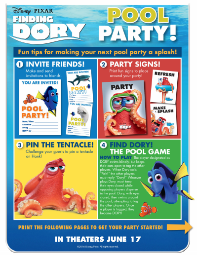 finding dory party kit