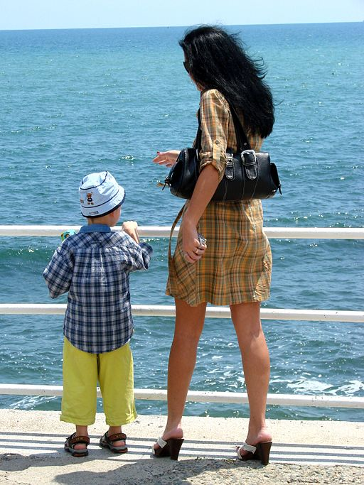 woman_and_child_along_the_seafront_-_constanta_-_romania