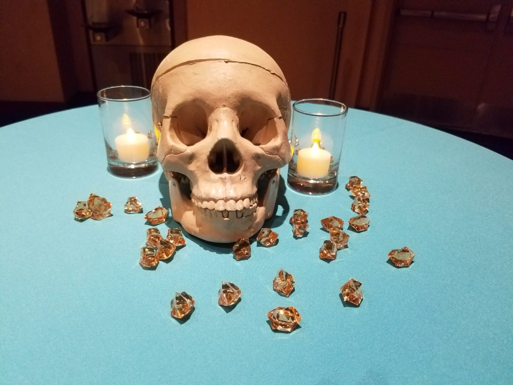 Skull on table