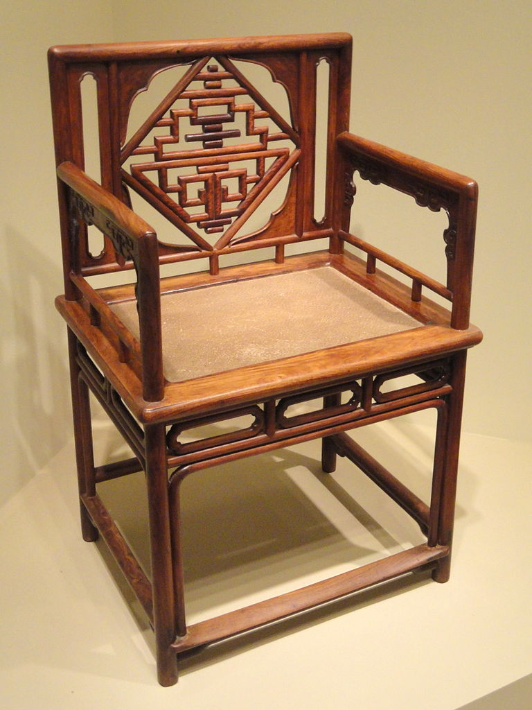 Low-back_armchair,_China,_late_Ming_to_Qing_dynasty,_late_16th-18th_century_AD,_huanghuali_rosewood_-_Arthur_M._Sackler_Gallery_-_DSC05918