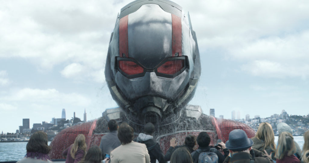 Marvel Studios' ANT-MAN AND THE WASP Ant-Man/Scott Lang in his Giant-Man form (Paul Rudd) Photo: Film Frame ©Marvel Studios 2018