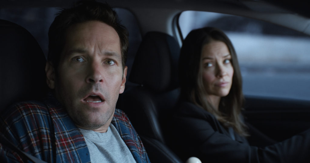 Marvel Studios' ANT-MAN AND THE WASP L to R: Scott Lang/Ant-Man (Paul Rudd) and Hope van Dyne/The Wasp (Evangeline Lilly) Photo: Film Frame ©Marvel Studios 2018