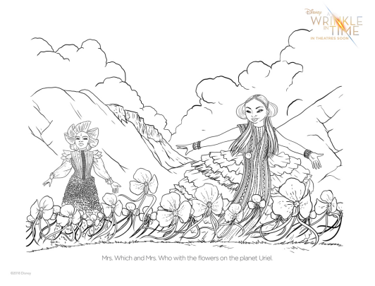 A Wrinkle In Time Coloring Page 2