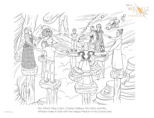 A Wrinkle In Time Coloring Page 3